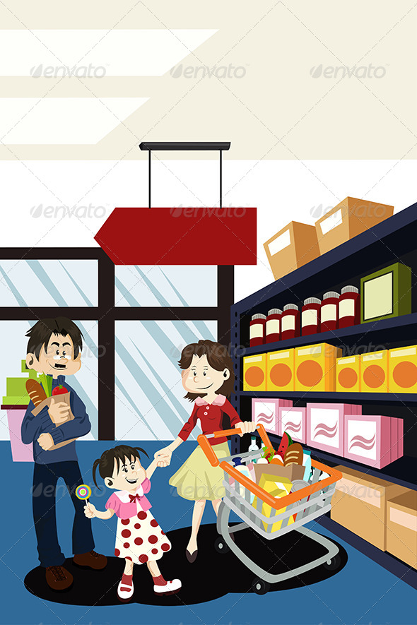 GraphicRiver Family Shopping Grocery 5634591