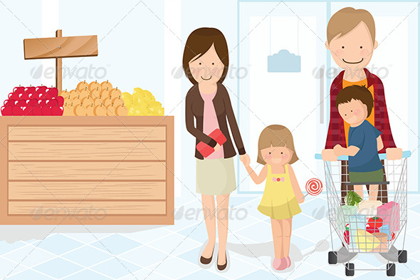 GraphicRiver Family Shopping Grocery 5634711