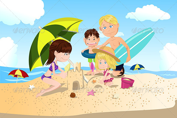 GraphicRiver Beach Family Vacation 5634982