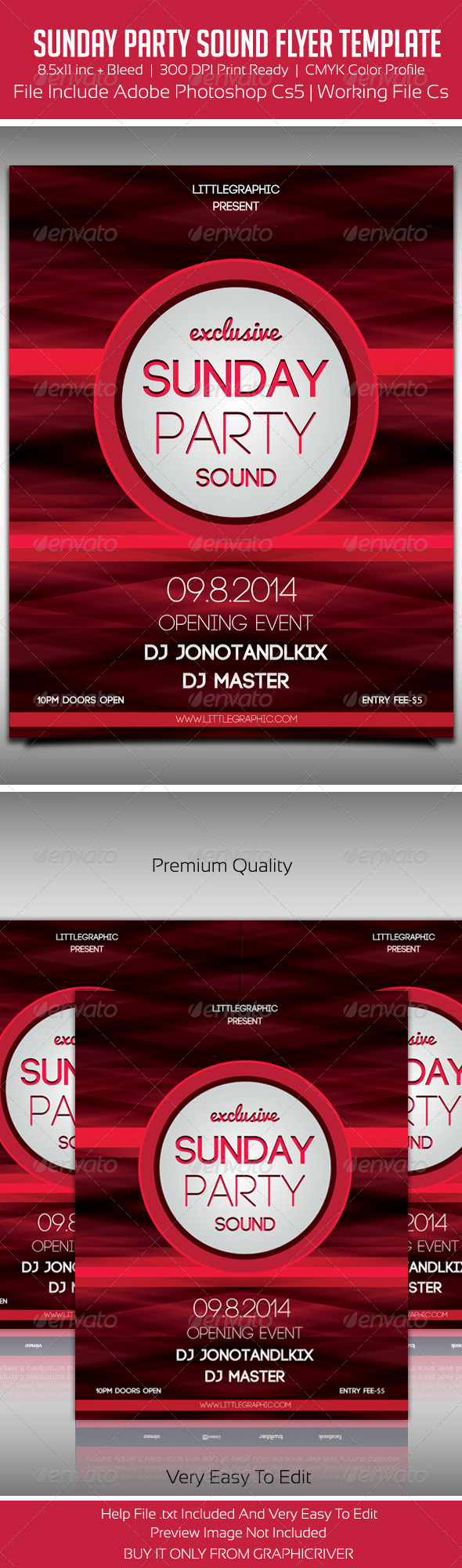 GraphicRiver Sunday Party Sound Flyer 5635005