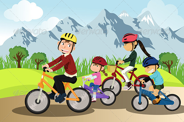 GraphicRiver Family Biking 5635191