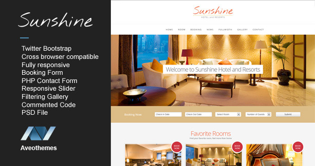 Sunshine - Responsive Hotel Template