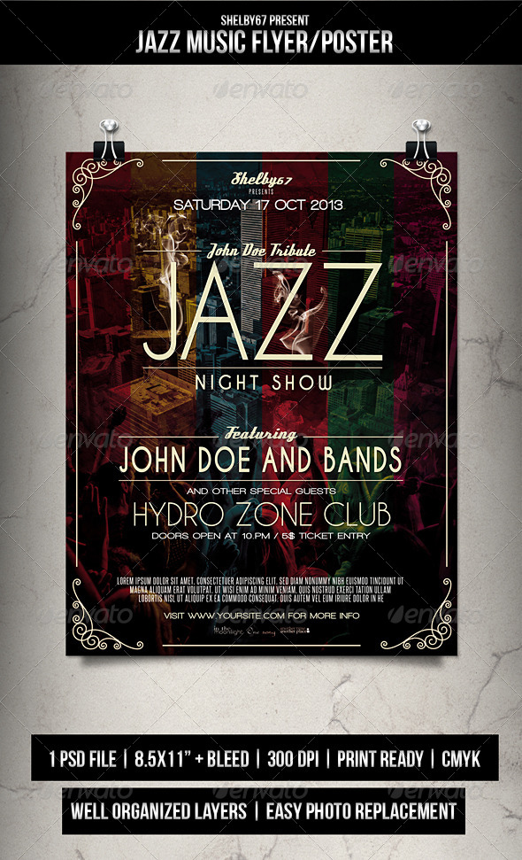 GraphicRiver Jazz Music Flyer Poster 5635427
