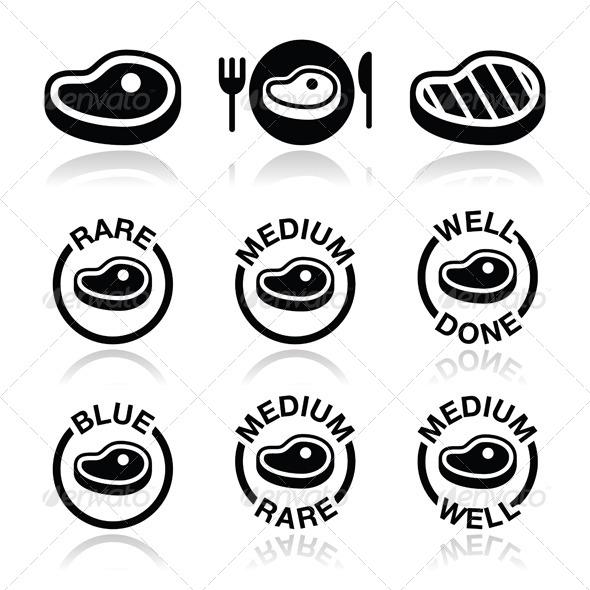 GraphicRiver Steak Icon Set 5635611