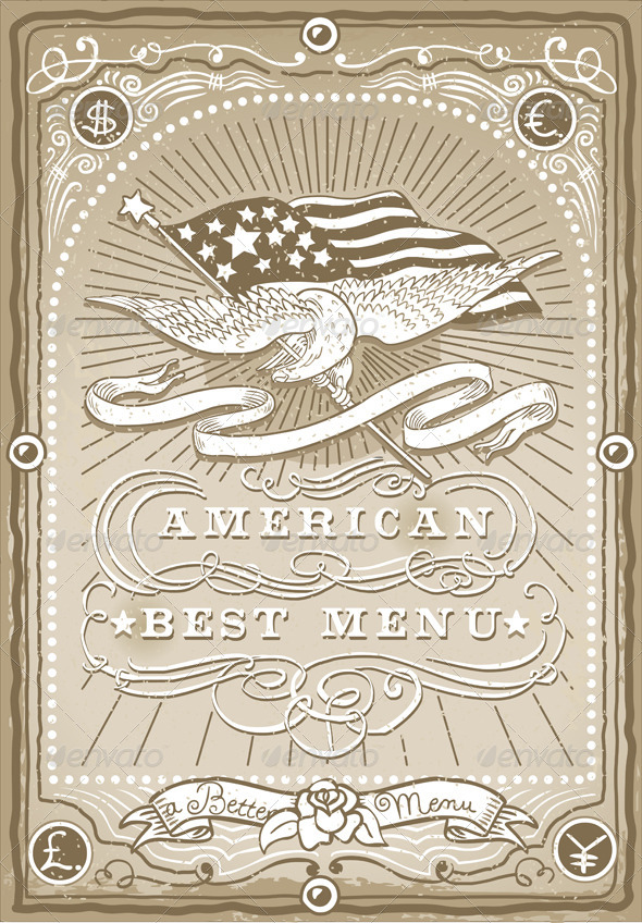 GraphicRiver Vintage Graphic Page for American Menu 5635746