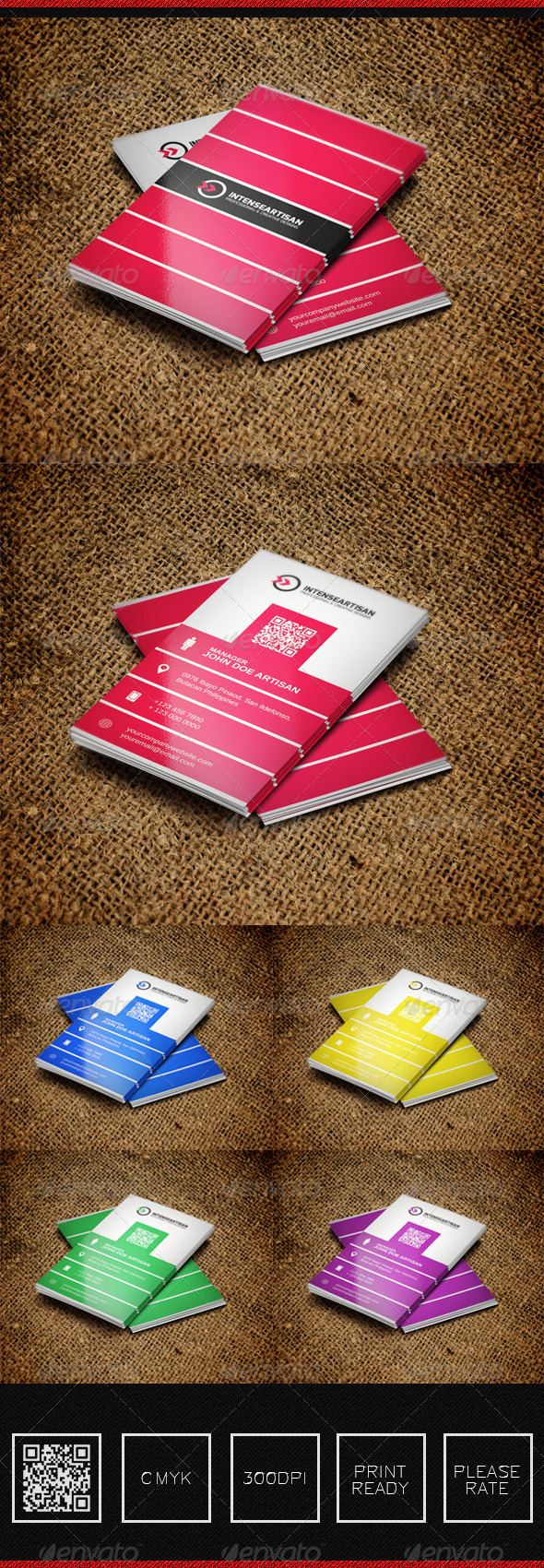GraphicRiver Intense Artisan Creative Business Card Vol-36 5635856