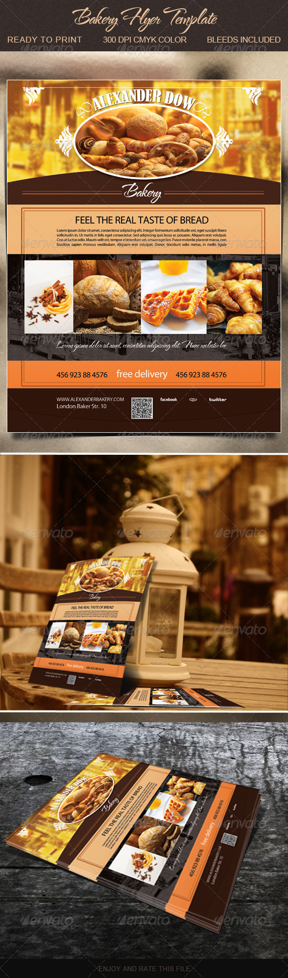 GraphicRiver Bakery Flyer Template 5635917