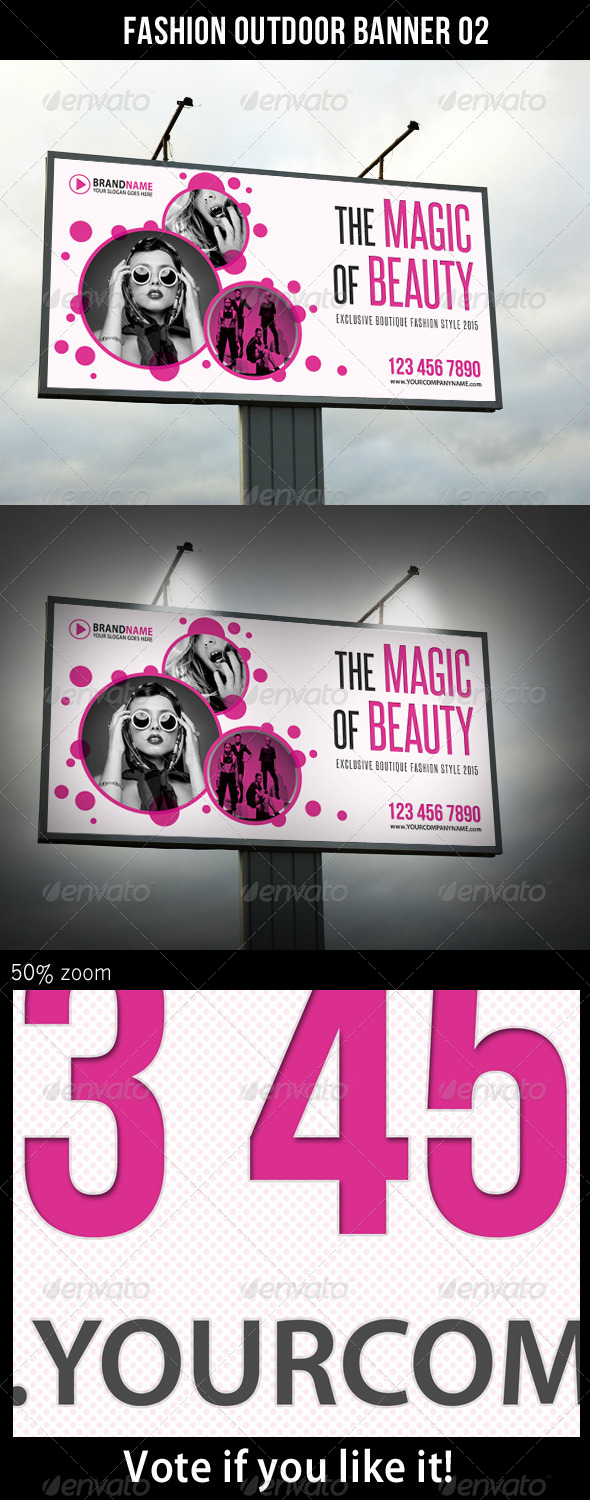 Fashion Outdoor Banner 02 - Signage Print Templates