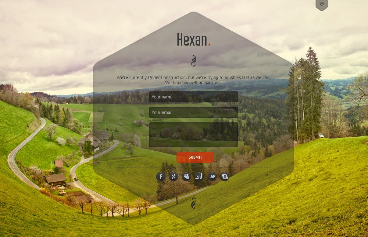 Hexan - Responsive Under Construction template