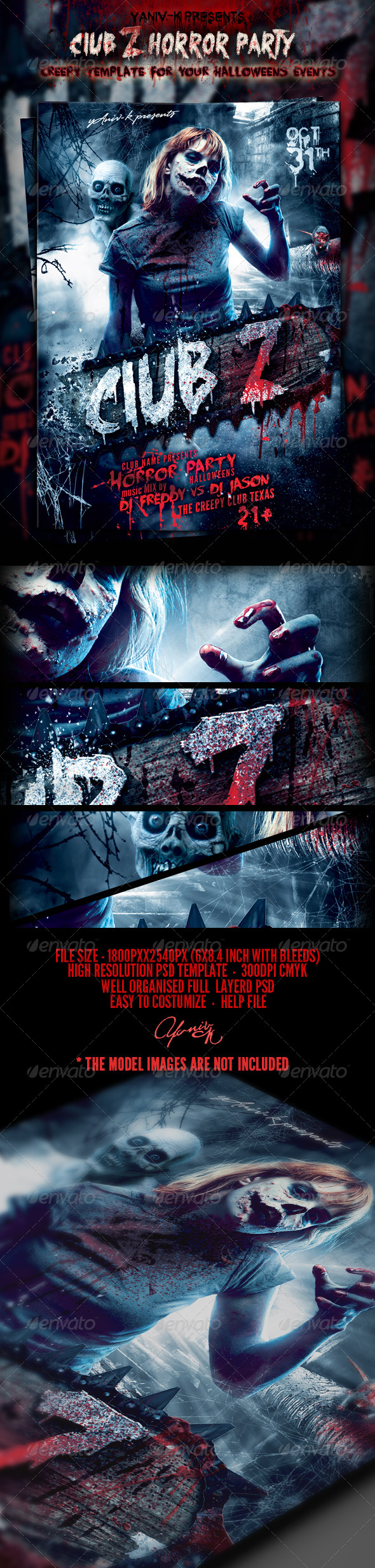 GraphicRiver Club Z Horror Party Template 5636271