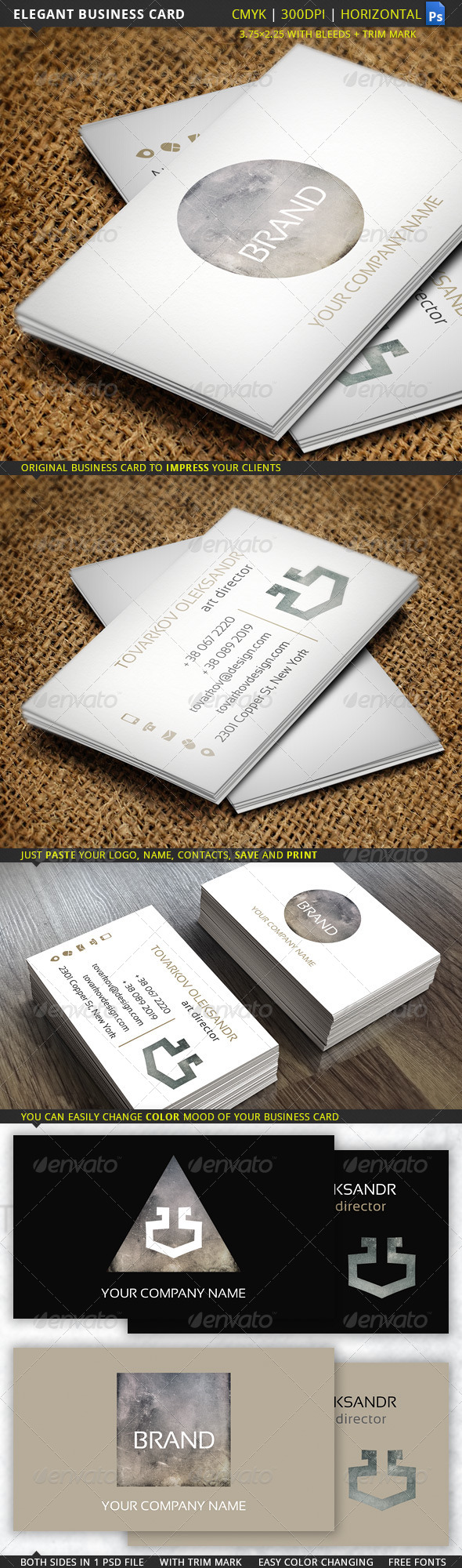 GraphicRiver Elegant Business Card 5636273
