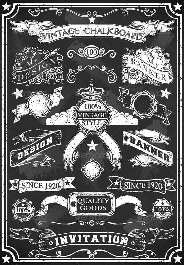 GraphicRiver Hand Drawn Blackboard Banner 5636343