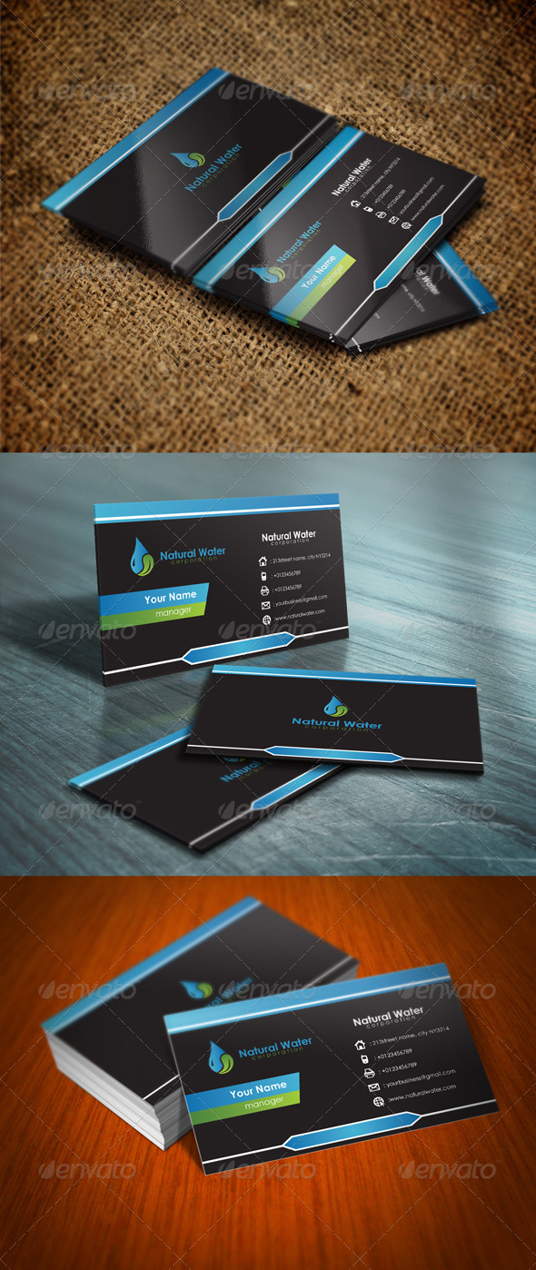 GraphicRiver Natural Water Card 5636402