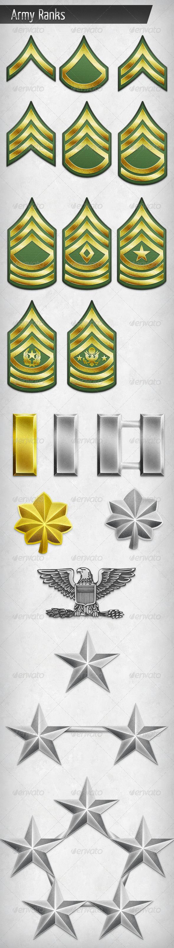 GraphicRiver Army Rank Insignias 5629285