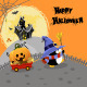 Halloween Penguin with Pumpkin - GraphicRiver Item for Sale