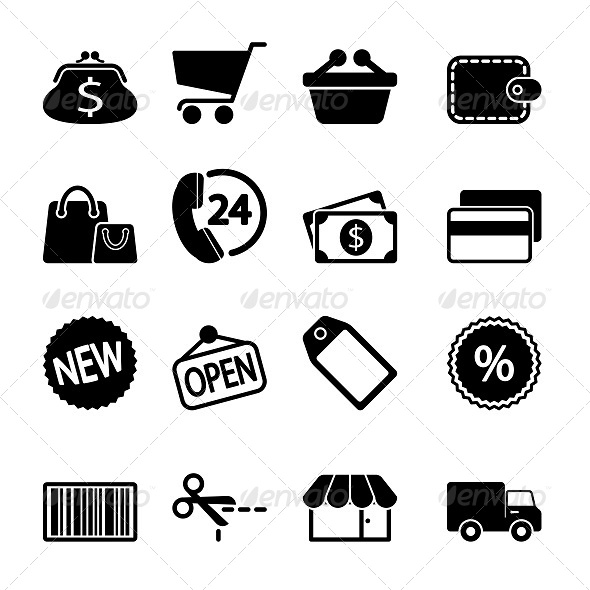 GraphicRiver Market Icons Set 5636684
