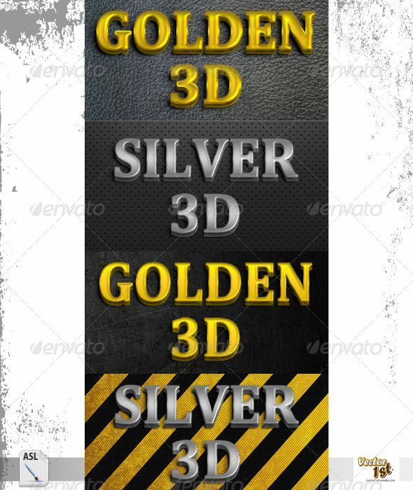 GraphicRiver Golden & Silver 3D Styles 5636739