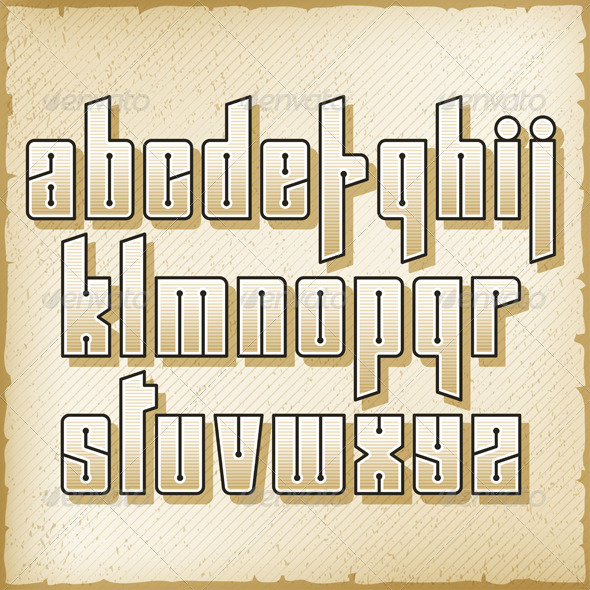 GraphicRiver Vintage Alphabet 5636773