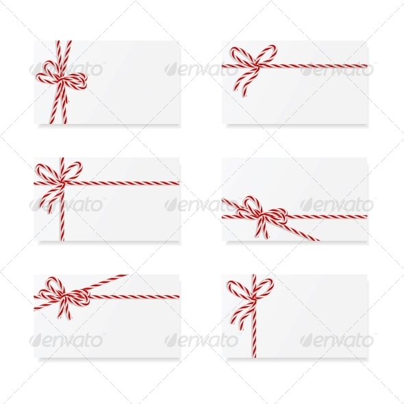 GraphicRiver Card Notes with Gift Bows 5636817