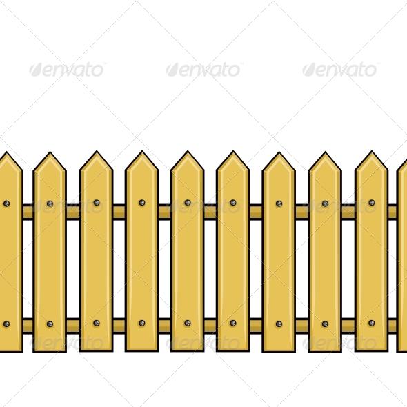 GraphicRiver Seamless Cartoon Fence 5636842