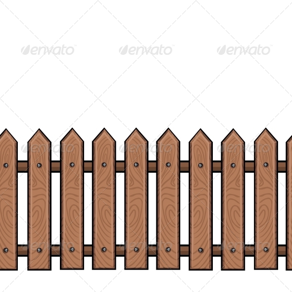 GraphicRiver Seamless Cartoon Wooden Fence 5636848