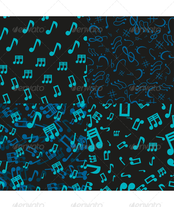 GraphicRiver 4 Musical Notes Seamless Patterns 5636855