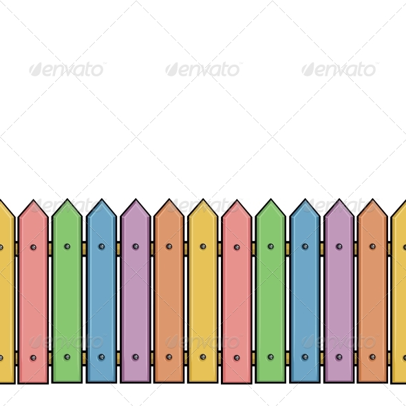 GraphicRiver Seamless Colorful Fence 5636867