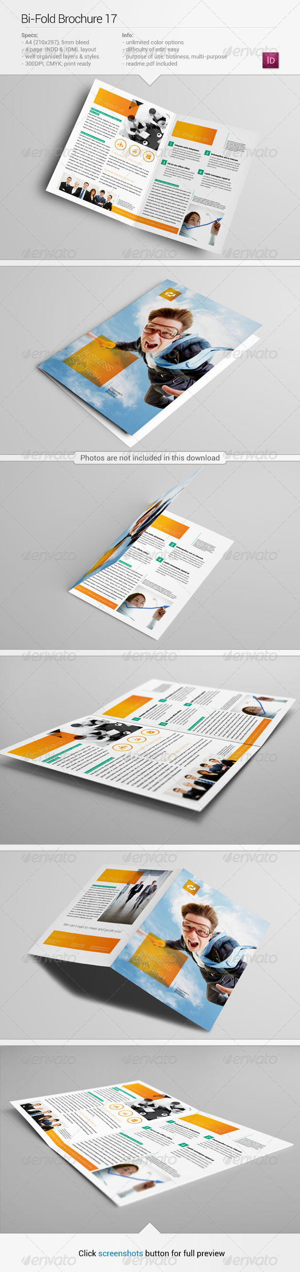 Bi fold brochure 17 corporate brochures for Bi fold brochure template indesign