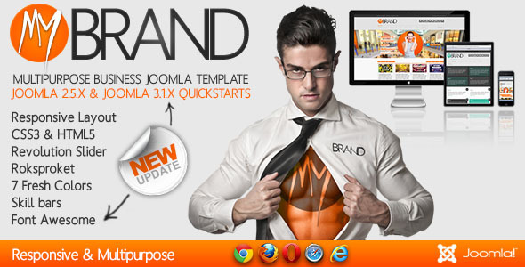mybrand preview image update.  large preview - MyBrand - Responsive, Multipurpose Joomla Template