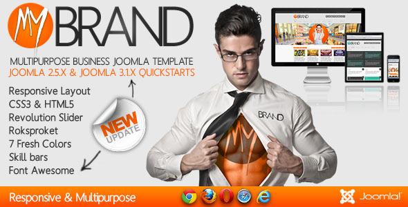MyBrand - Responsive, Multipurpose Joomla Template