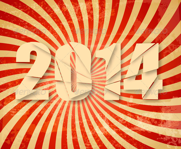GraphicRiver 2014 Happy New Year Retro Background 5638023