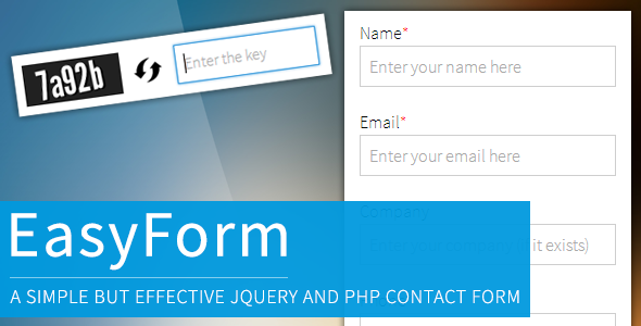 jQuery and PHP powered Easy Form - CodeCanyon Item for Sale