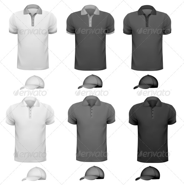 GraphicRiver Black and White Men T-shirt and Cup 5638162