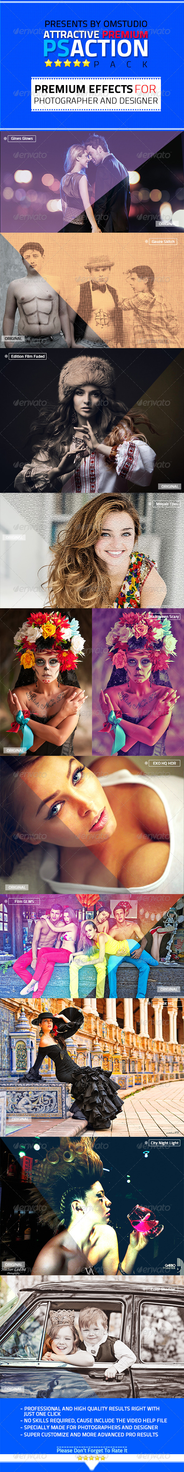 GraphicRiver Attractive Premium Photoshop Action Pack V1 5638175