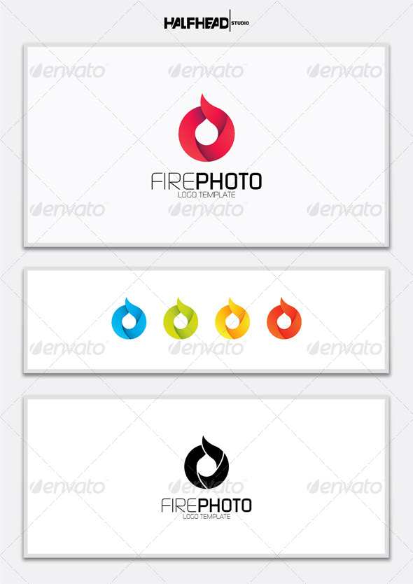 Fire Photo Logo Template
