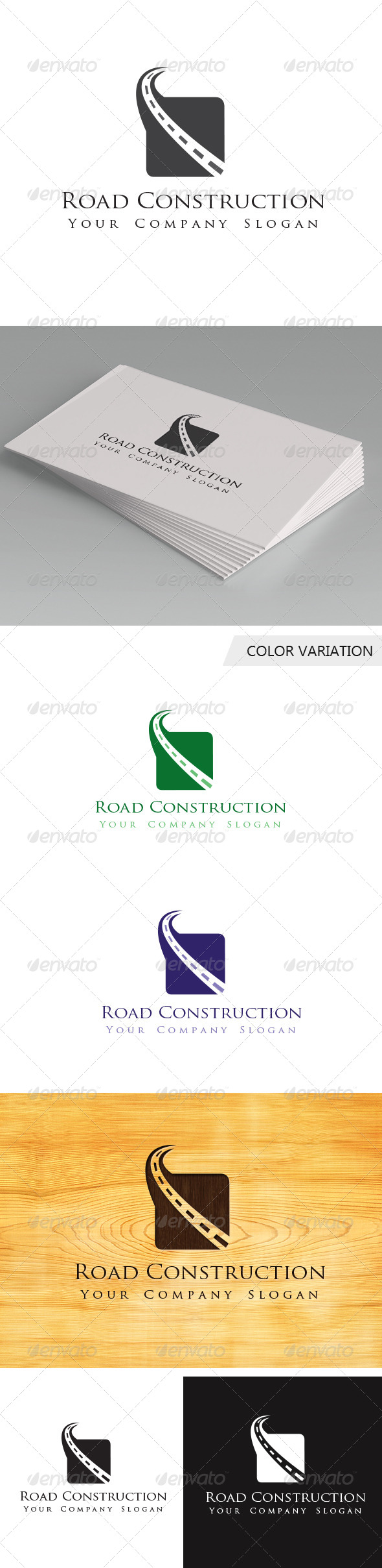 GraphicRiver Road Construction Logo Template 5638390