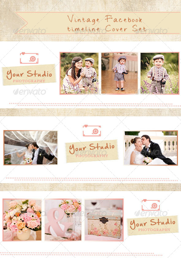 GraphicRiver Vintage Timeline Cover Set 1 5636017