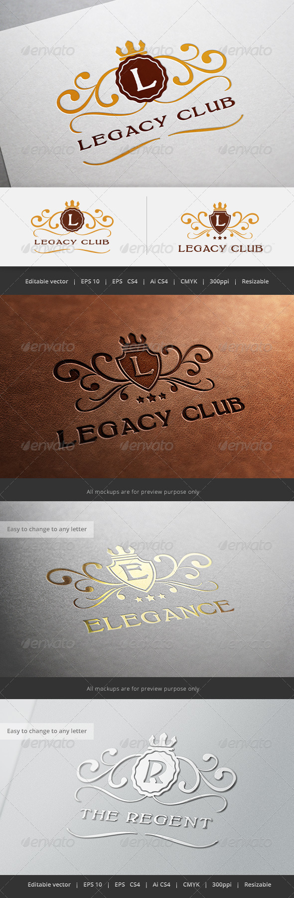 GraphicRiver Legacy Crest Logo 5638455