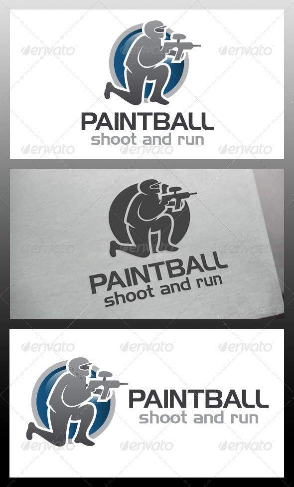 Paintball Logo Template