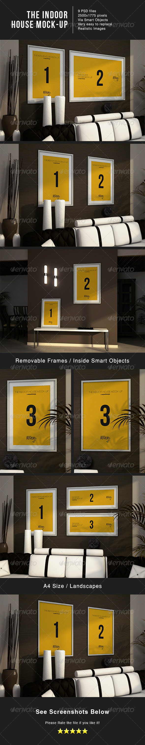 The Indoor House Mock-Up - Posters Print