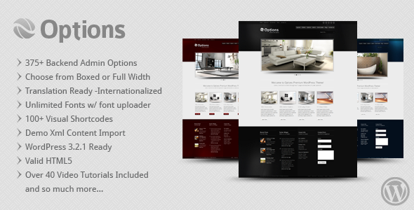 Options Business Corporate Premium WordPress Theme - ThemeForest Item for Sale