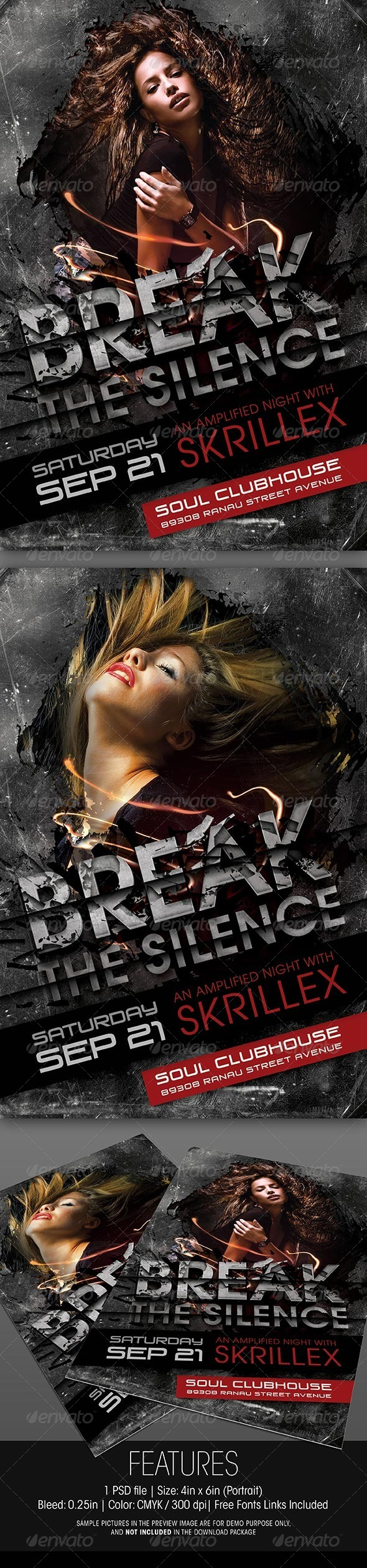 GraphicRiver Break The Silence Party Flyer 5638872