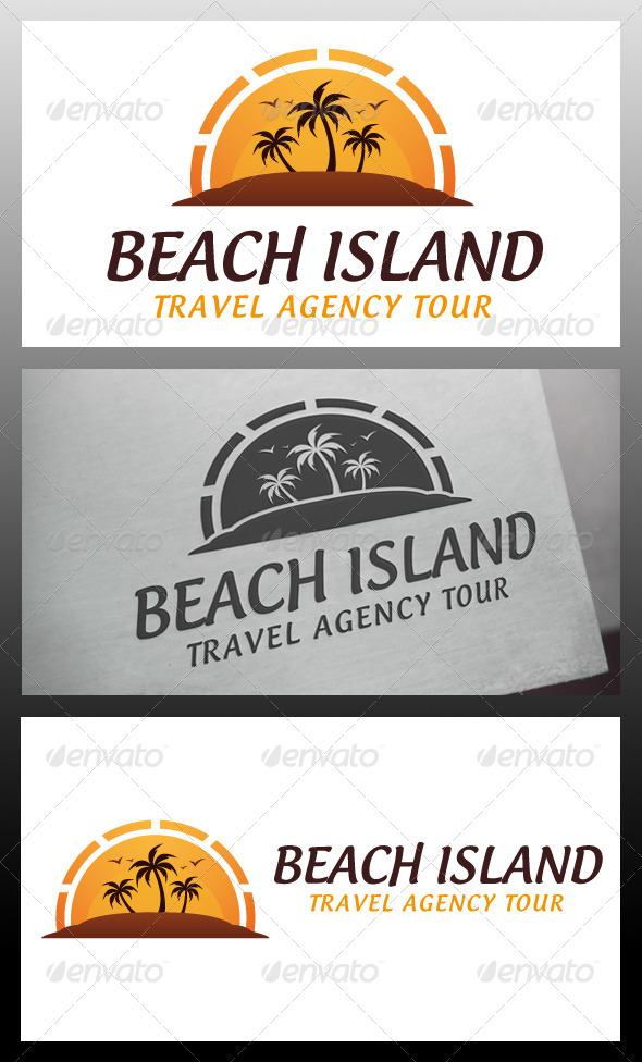 GraphicRiver Beach Island Logo Template 5639392