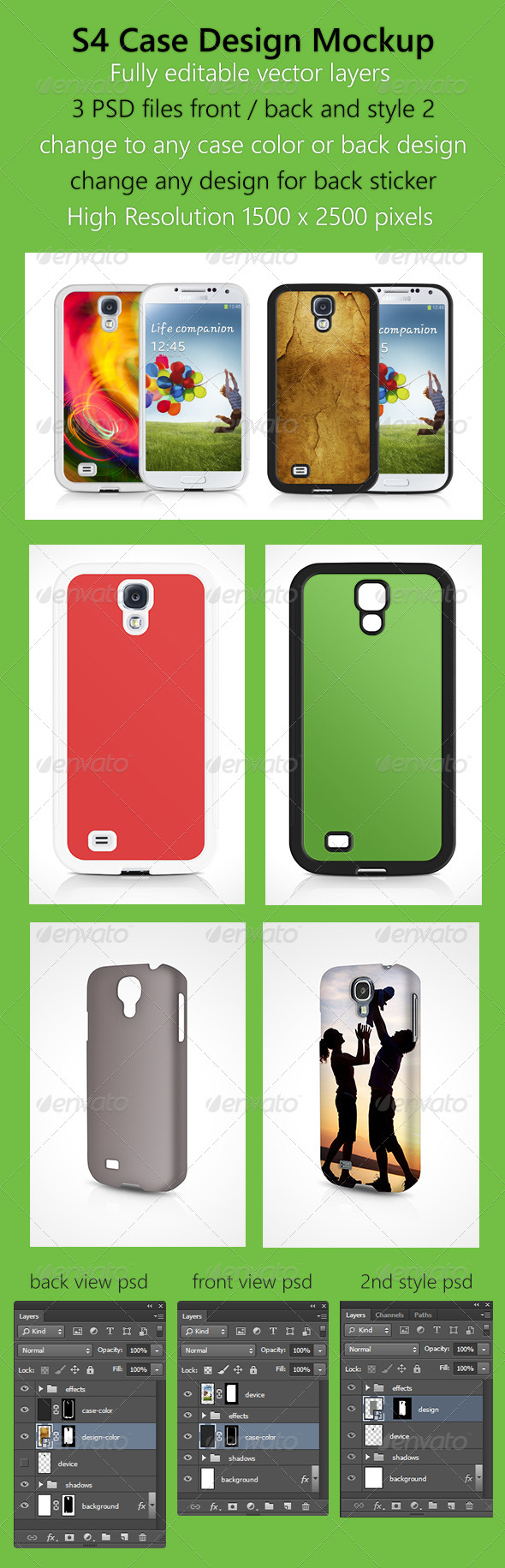 GraphicRiver S4 Case Design Mockup 5592389