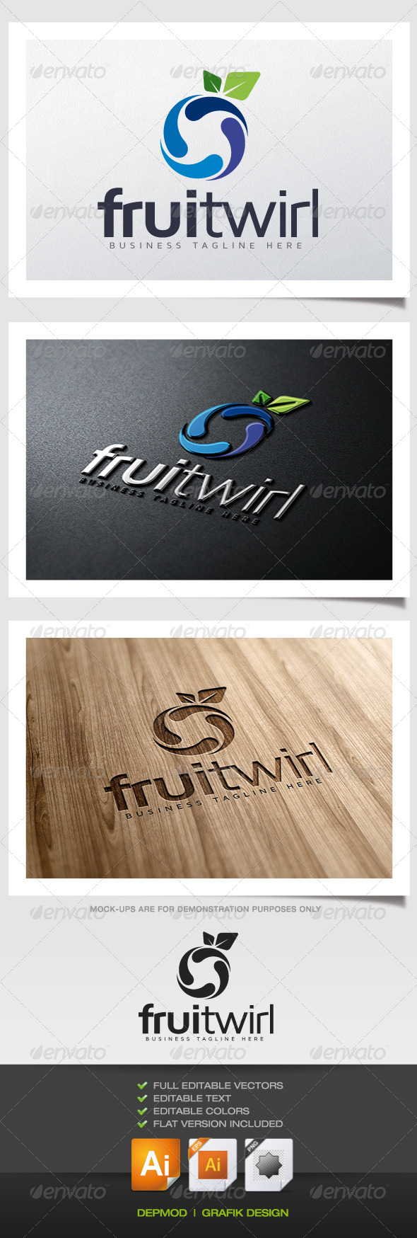 GraphicRiver Fruitwirl Logo 5639426