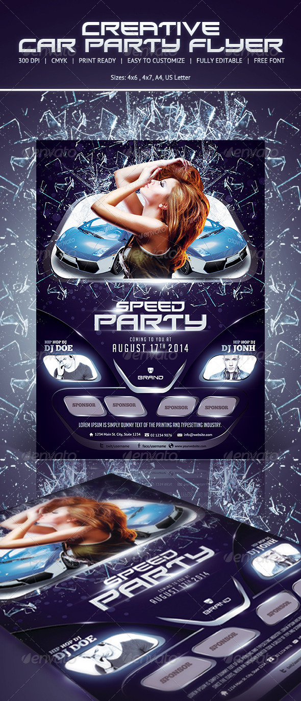GraphicRiver Car Show Party Flyer 5577477