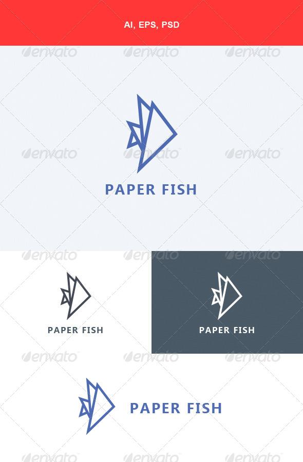 GraphicRiver Paper Fish Logo 5640500