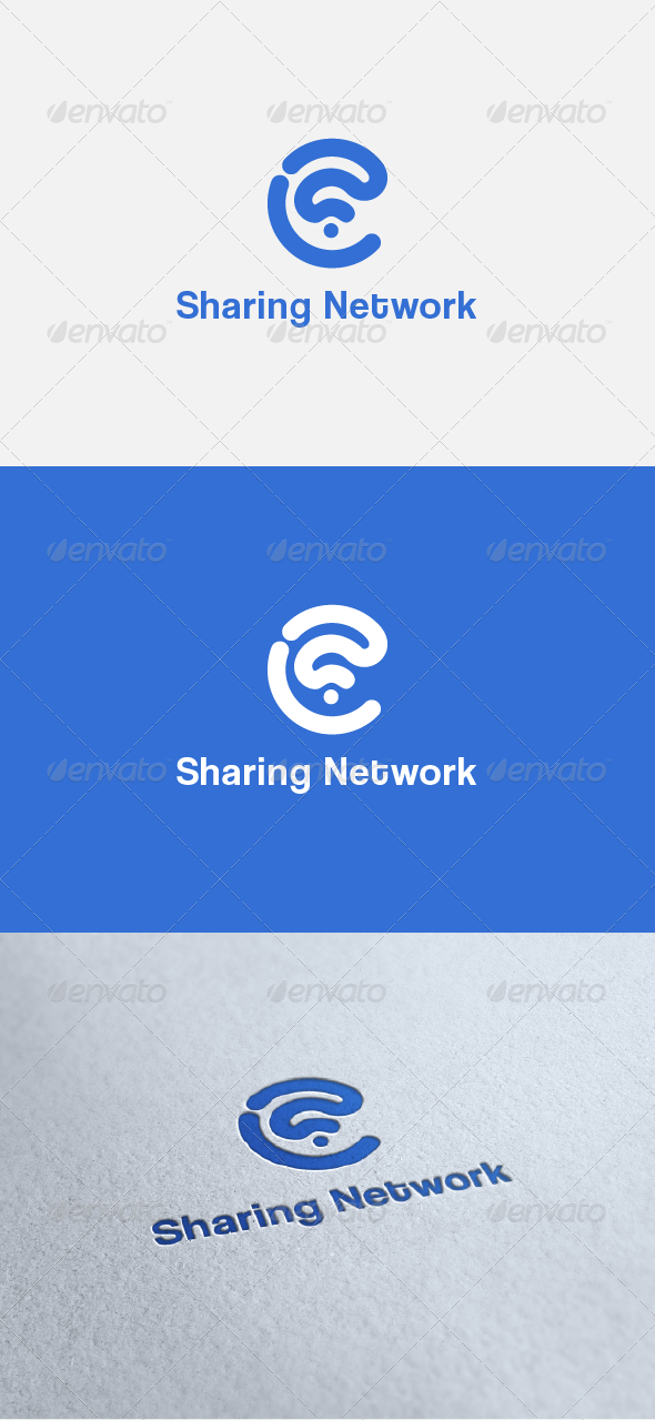 GraphicRiver Sharing Network Logo Templates 5608966