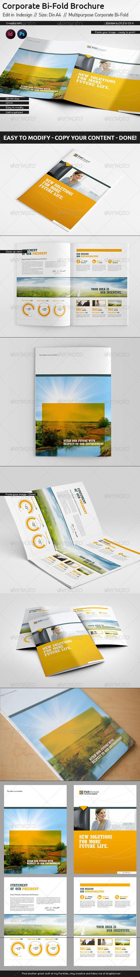 Corporate Report Din A4 Bi-Fold