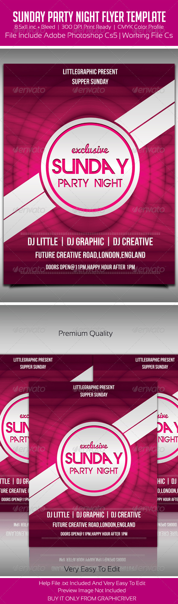 GraphicRiver Party Flyer Template 3 5640734